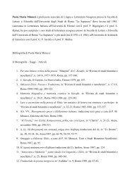 Curriculum e pubblicazioni - Sapienza - Università di Roma