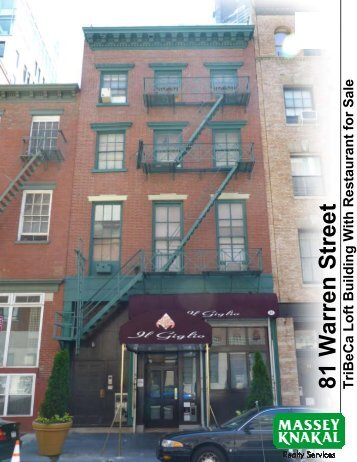 81 Warren Street TriBeCa - Massey Knakal Realty Services