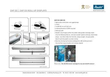 ZAP D3 roll uP DisPlAys - Maxibit Solution GmbH Deutschland