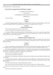 Legge Regionale del 29 marzo 2006 n. 10 - Regione Campania