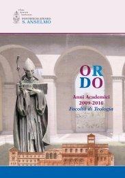 Anni Academici 2009-2010 Facoltà di Teologia - Pontificio Ateneo S ...