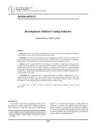 Development children's eating behavior - Jornal de Pediatria