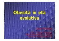 Obesità in età evolutiva - Azienda Sanitaria Locale n° 2 Savonese