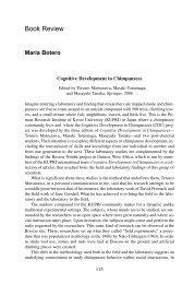 Cognitive Development in Chimpanzees - Psychology