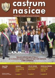 Periodico comunale Castrum Nasicae n. 5 del 2012 - Comune di ...