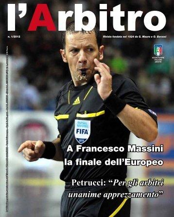 Rivista l'Arbitro 1/2012 - Associazione Italiana Arbitri