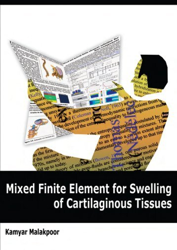 Mixed Finite Element for Swelling of Cartilaginous Tissues