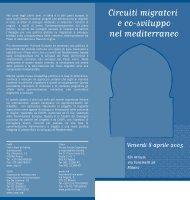 Circuiti migratori e co-sviluppo nel mediterraneo - Punto Sud