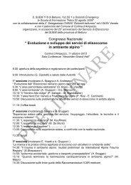 Congresso 11 ottobre 2013 - Corpo Nazionale Soccorso Alpino e ...