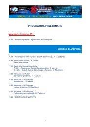 PROGRAMMA PRELIMINARE - Associazione Geriatri Extraospedalieri