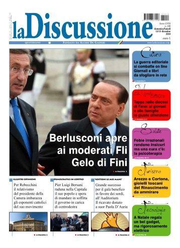 Berlusconi apre ai moderati Fli Gelo di Fini - CAD Sociale