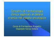 Concetti di farmacologia clinica applicati al dolore cronico nel ...