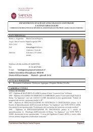 Curriculum Vitae Maria Grazia Porpora Pagina 1 DIPARTIMENTO DI ...