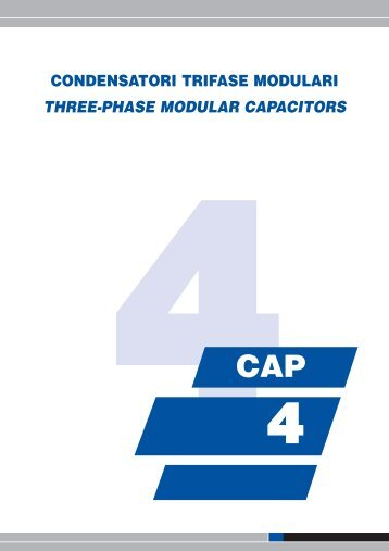 condensatori trifase modulari three-phase modular capacitors tc10