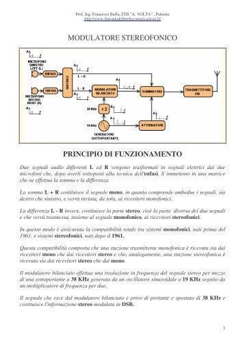 modulatore stereofonico principio di funzionamento - ITIS G. Galilei