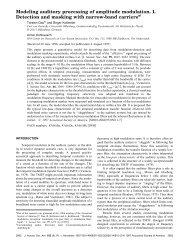 Modeling auditory processing of amplitude modulation. I. Detection ...