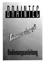 Braintec Transistorbass3 User Manual (German) - cykong.com