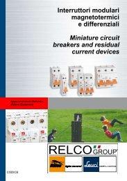 Interruttori modulari magnetotermici e differenziali Miniature ... - Relco