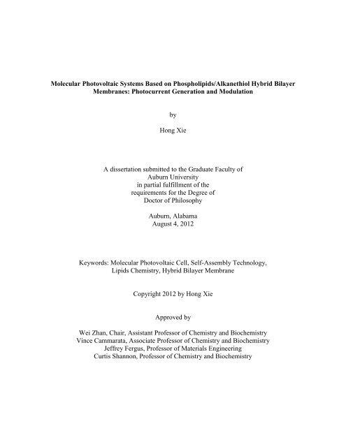 Auburn university electronic thesis dissertation