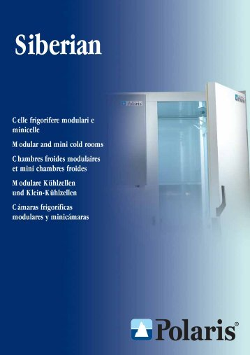 Celle frigorifere modulari e minicelle Modular and mini cold rooms ...