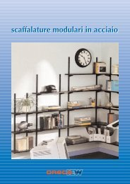 scaffalature modulari in acciaio - ORECA NEW Spa