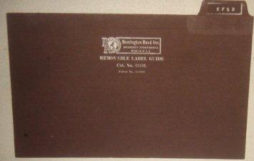 Remington Rand Inc. - FCC