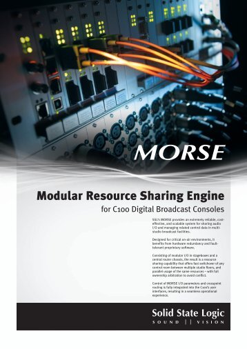 MORSE Brochure - Solid State Logic