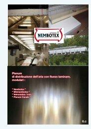 Plenum di distribuzione dell'aria con flusso laminare, modulari :