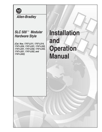 Allen bradley Plc pdf Manual