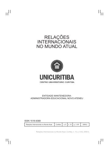 Revista RI 10 - 2009-2.pmd - Unicuritiba