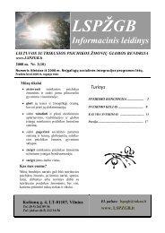 Informacinis leidinys Nr. 10 - Lietuvos sutrikusios psichikos žmonių ...