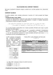 VALUTAZIONE DEL COMFORT TERMICO Nel caso di ... - Ispesl