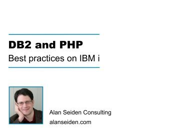 Db2 and PHP best practices on IBM i - Zend