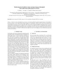 Monitoring forest health by remote sensing of canopy ... - Index of