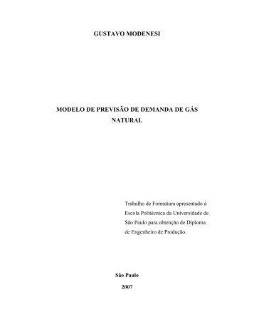 GUSTAVO MODENESI MODELO DE PREVISÃO DE ... - PRO - USP