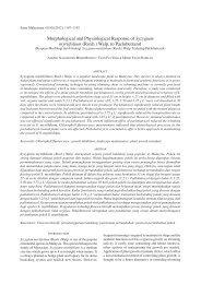 Morphological and Physiological Response of Syzygium myrtifolium ...