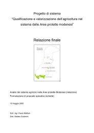 Relazione finale - Parco del Frignano