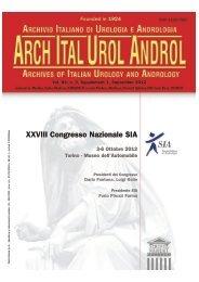 XXVIII Congresso Nazionale SIA – 2012 - RUA - Roman Urological ...