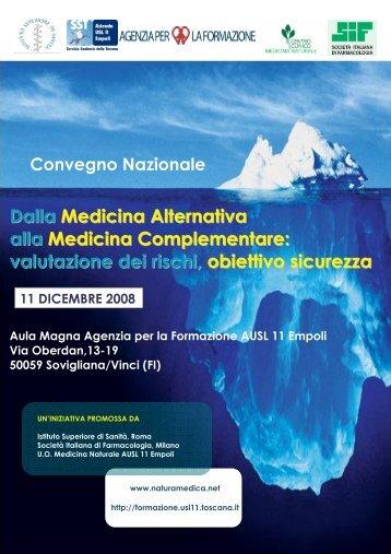 Dalla Medicina Alternativa alla Medicina Complementare ... - SIF