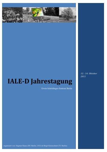 Tagungsband (PDF, 1.607 KB) - IALE-D