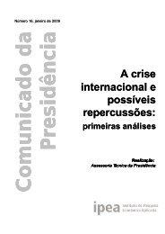 A crise internacional e possíveis repercussões: A crise ... - Ipea