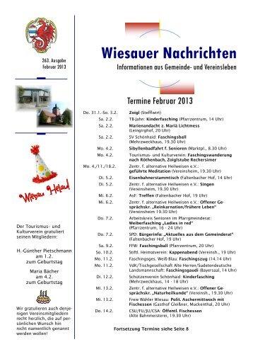 Februar 2013 - Markt Wiesau