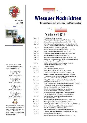 April 2013 - Markt Wiesau