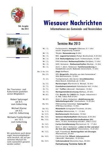 Mai 2013 - Markt Wiesau