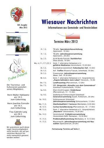 März 2013 - Markt Wiesau