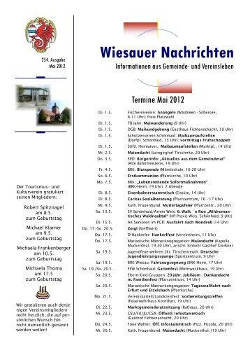 Wiesauer Nachrichten - Markt Wiesau