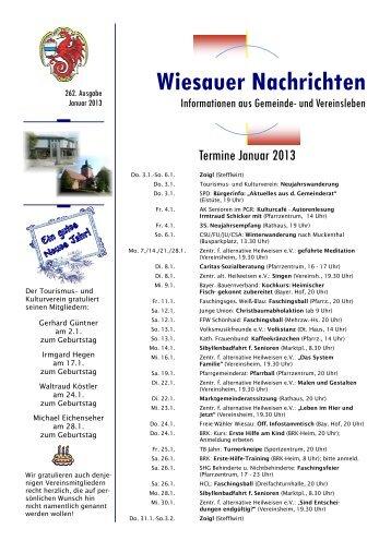 Januar 2013 - Markt Wiesau