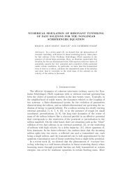 Numerical simulations of Resonant tunneling of fast solitons for NLS ...