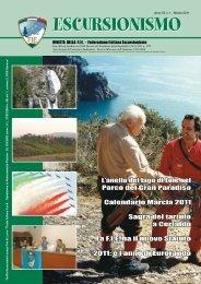 escursionismo anno 52 n.1 – marzo 2011 - FIE