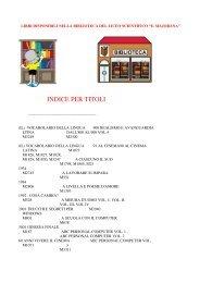 Il catalogo per TITOLI - Liceo Scientifico Ettore Majorana Isernia